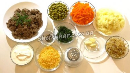 Смачний святковий салат з курячої печінки