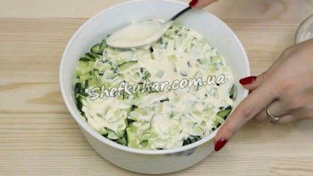 Салат з картоплею фрі