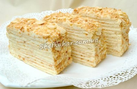 Торт Наполеон з млинців