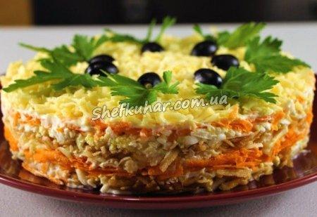 Святковий французький салат