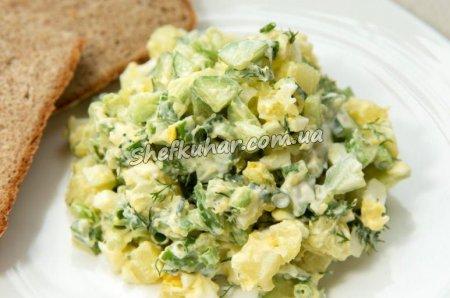 Легкий салат без майонезу