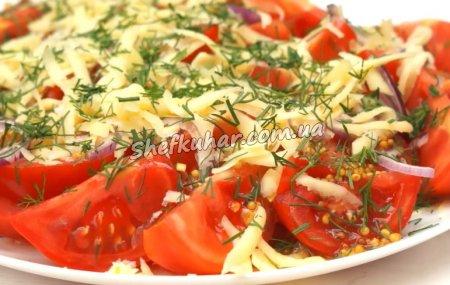 Салат з помідорів на швидку руку