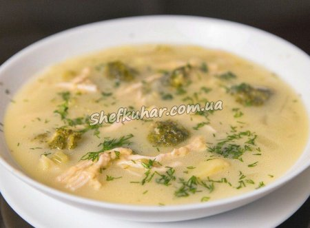 Легкий суп з фрикадельками