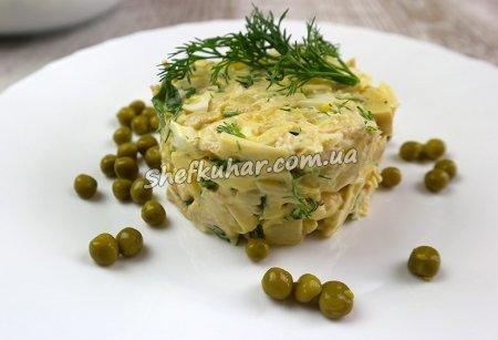 Святковий салат з куркою і ананасами