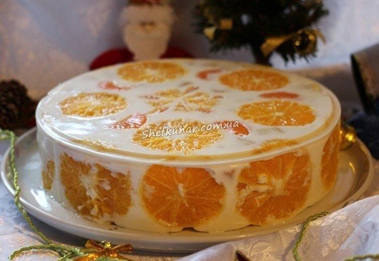 Торт на новорічний стіл 2020