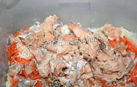 Приготування салату з консервованої горбуші - Фото 4