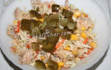 Приготування салату з консервованої горбуші - Фото 6