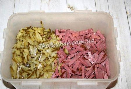 Як приготувати Салат з м'ясом, грибами і горіхами - Фото 4