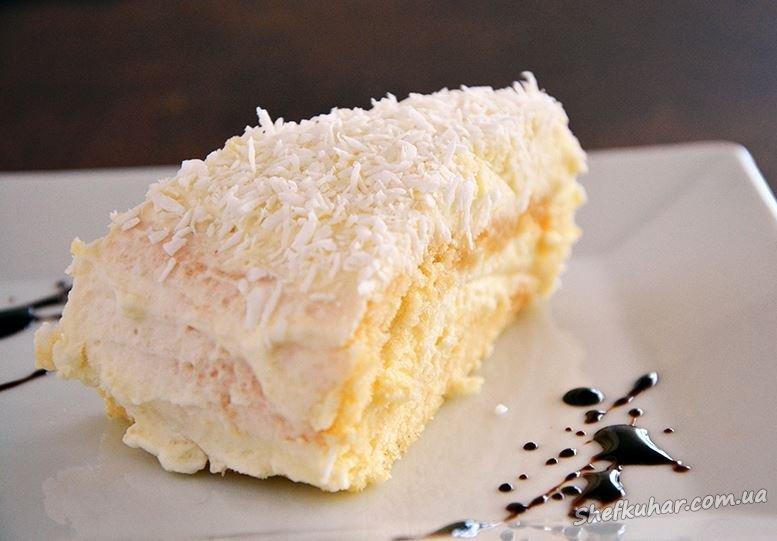Торт з кокосовою стружкою Райська насолода