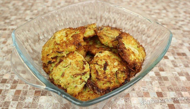 Деруни з картоплі та кабачків