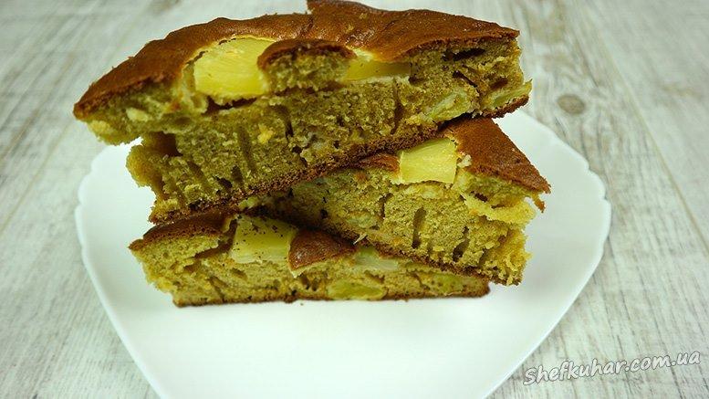 Пиріг з ананасами