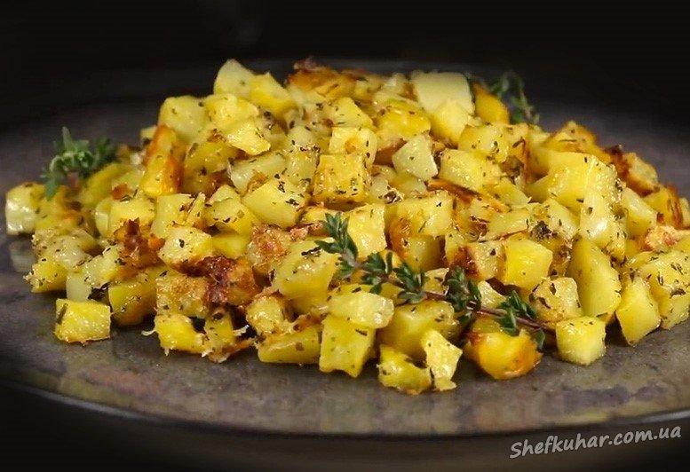 Картопля кубиком в духовці