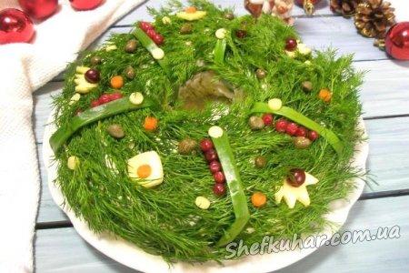 Як по-новорічному оформити салат - фото 1