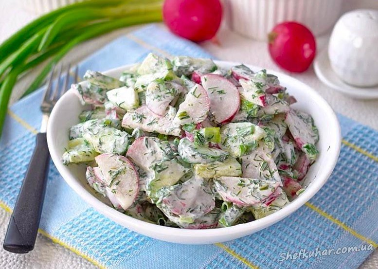 Салат з редиски